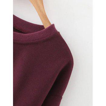 Cropped Drop Shoulder Sweatshirt - M M