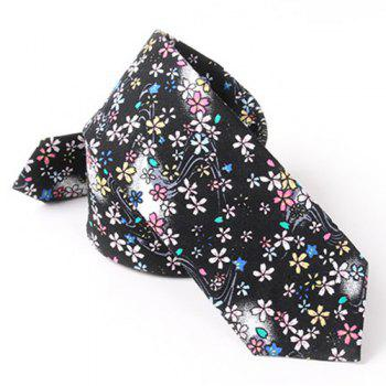 Casual Flower and Jellyfish Pattern 6CM Width Tie - BLACK