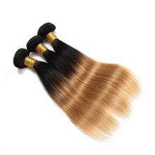 1 PCS Double Color 6A Virgin Straight Brazilian Hair Weaves