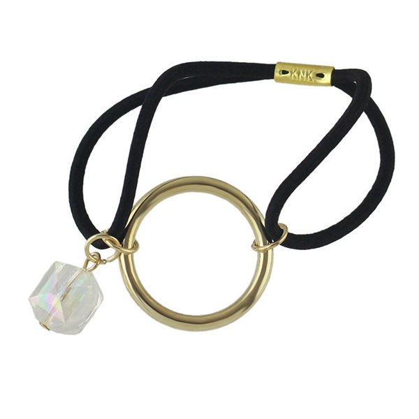 Circle Faux Gem Elastic Hair Band