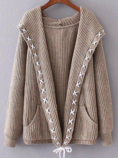 Hooded String Cable Knit Cardigan dslr rig original movie kit shoulder mount photo studio accessories for any camcorder dv camera canon sony nikon panasonic