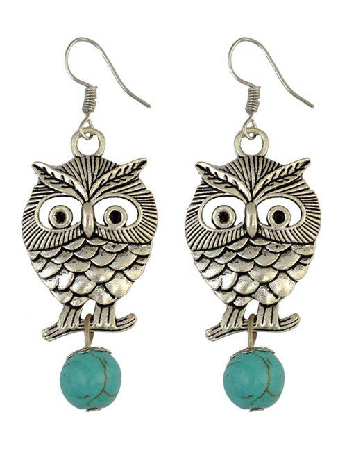 Ethnic Hollow Out Owl Hook EarringsJewelry<br><br><br>Color: LIGHT GOLD