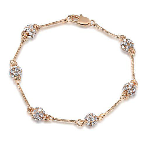 Ball Shape Geometric Rhinestone BraceletJewelry<br><br><br>Color: ROSE GOLD