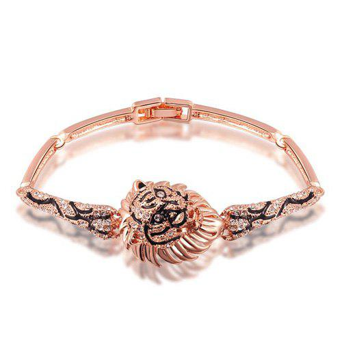 Chunky Style Lion Head BraceletJewelry<br><br><br>Color: ROSE GOLD
