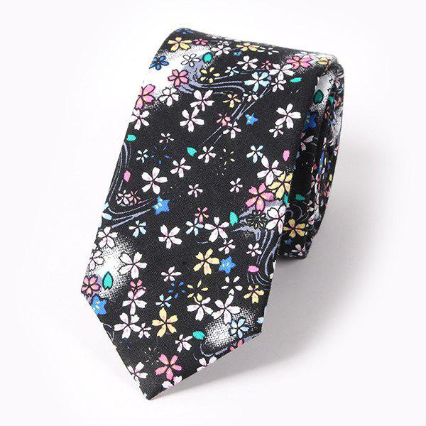 Casual Flower and Jellyfish Pattern 6CM Width Tie stylish flower and leaf ink pattern 6cm width tie for men