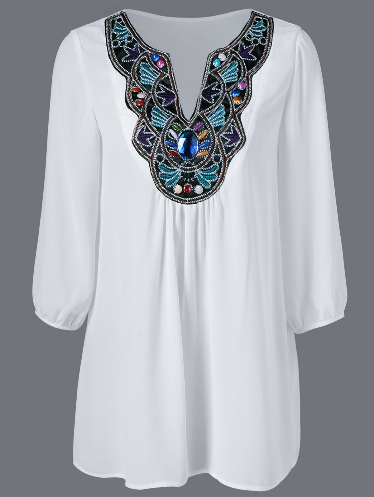 Embroidered Maxican Peasant Chiffon Blouse удилище фидерное mikado ultraviolet heavy feeder 360 до 120гр карбон mx 9