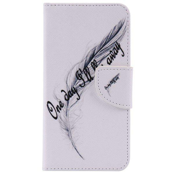 Feather Letter Pattern Phone Case For iPhone 7 Plus - WHITE