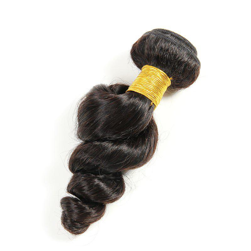 1 PCS 6A Virgin loose Vague brésilienne Tissages Cheveux - Noir 18INCH