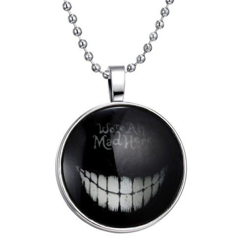 Were Ah Mad Here Halloween Pendant Necklace - SILVER