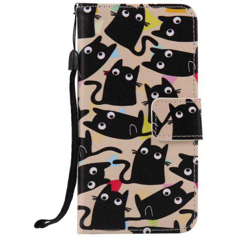 Cartoon Cat iPhone 7 Plus Wallet Phone - Écaille