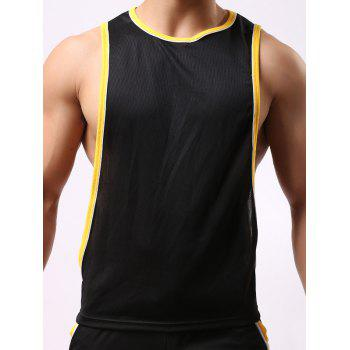 Round Neck Sports Edging Design Tank Top