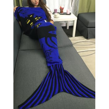 Portable Acrylic Knitted Halloween Mermaid Tail Blanket