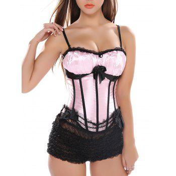 Laciness Bowknot Lace Up Corset