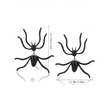 Punk Spider Shape Stud Earrings - BLACK