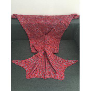 Chic Women's Knitted Fishtail Blanket - RED ONE SIZE(FIT SIZE XS TO M)
