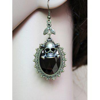 Pair of Faux Crystal Skull Earrings