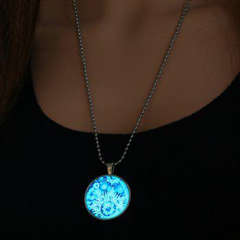 Bomb Explode Pattern Halloween Pendant Necklace -  SILVER