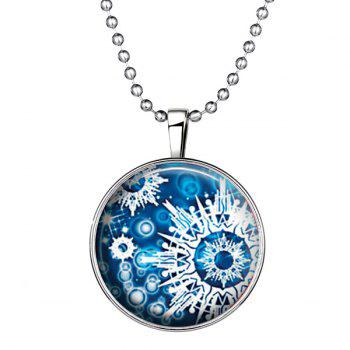 Bomb Explode Pattern Halloween Pendant Necklace - SILVER SILVER
