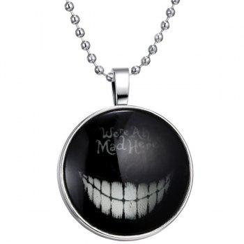Were Ah Mad Here Halloween Pendant Necklace - SILVER SILVER