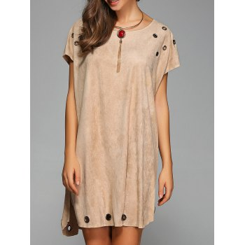 Split Cap Sleeve Shift Dress