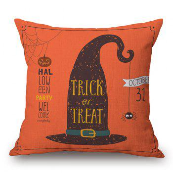 Witch Hat Car Sofa Cushion Halloween Pillow Case