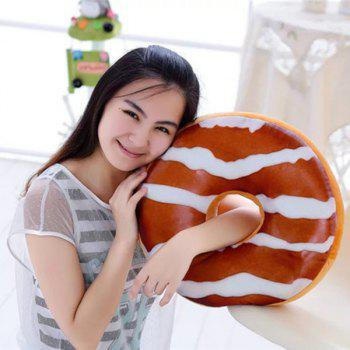 Soft Plush Chocolate Candy Doughnut Shape Pillow
