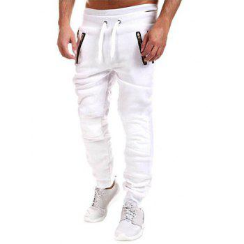 Insert Zippered Drawstring Jogger Pants