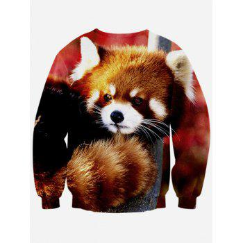 Manches longues 3D imprimé animal Sweat ras du cou - multicolorcolore L