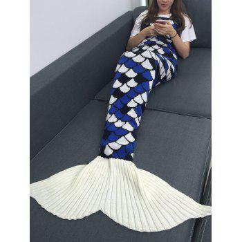 Keep Warm Geometry Pattern Knitting Mermaid Blanket