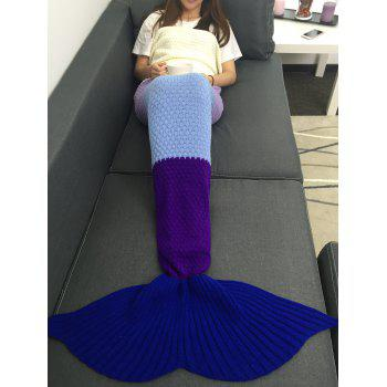 Soft Assorted Color Knitted Mermaid Tail Blanket