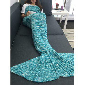 Openwork Design Acrylic Knitted Mermaid Tail Blanket - COLORMIX W31.50INCH*L70.70INCH