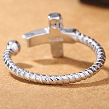 Cross Open Ring - SILVER