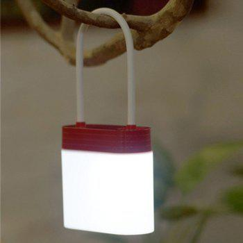 Creative Multifunction Rechargeable Padlock Shape LED Night Light - RED RED