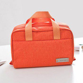 Sucrerie Zip Couleur Cosmetic Bag - Tangerine