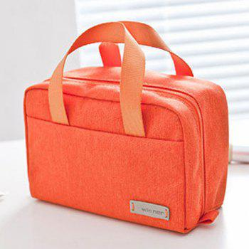 Candy Color Zip Cosmetic Bag