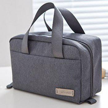 Candy Color Zip Cosmetic Bag - GRAY GRAY