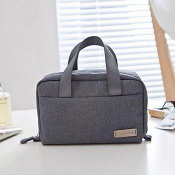 Candy Color Zip Cosmetic Bag -  GRAY