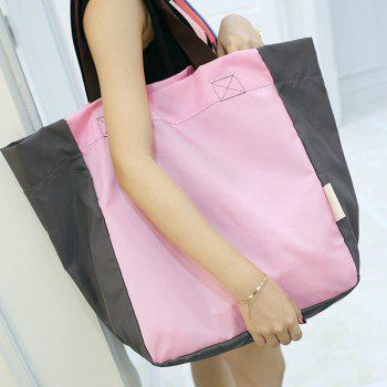 Casual Color Block Nylon Shoulder Bag