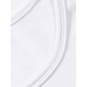 Brief Letter Pattern Long Sleeve T-Shirt - WHITE XL