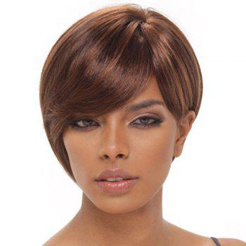 Short Side Bang Straight Double Color Synthetic Capless Wig