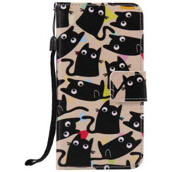 Cartoon Cat Wallet Phone Case For iPhone 7 Plus