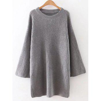 Relaxed Fit Long Sleeve Knitted Tunic Dress