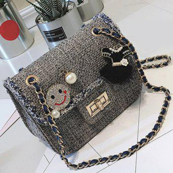Chain Twist-Lock Faux Pearls Crossbody Bag