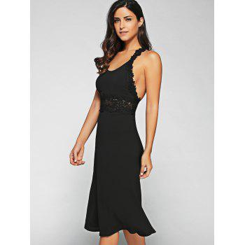 Lace Racerback Midi Dress - L L