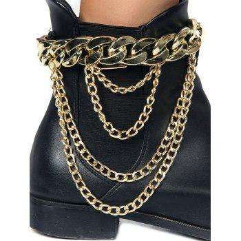 Chain Chunky Style Layered Boot Anket - GOLDEN GOLDEN