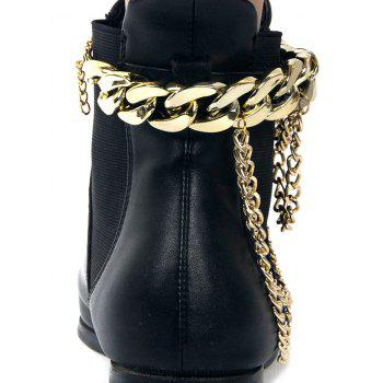 Chain Chunky Style Layered Boot Anket - GOLDEN
