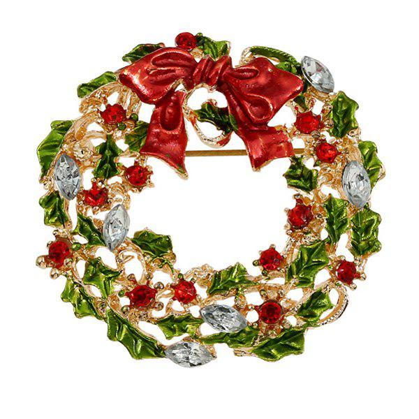 Wreath Enamel Bowknot Christmas Brooch christmas bowknot wreath velvet wide choker page 8