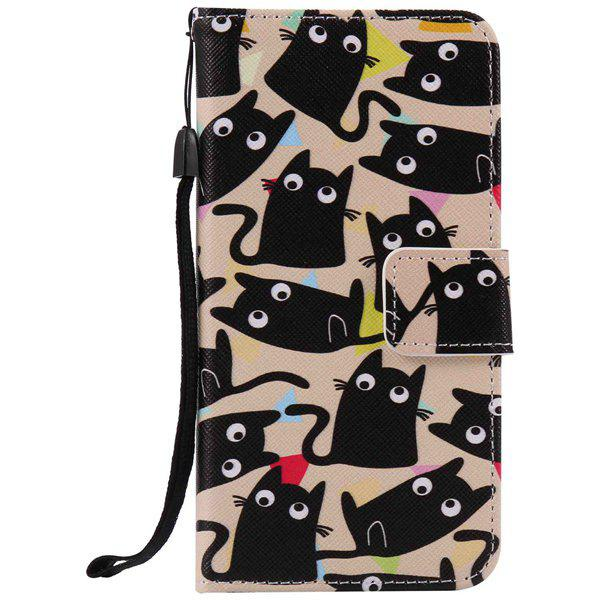 Cartoon Cat Wallet Phone Case For iPhone 7 PlusHome<br><br><br>Color: HAWKSBILL