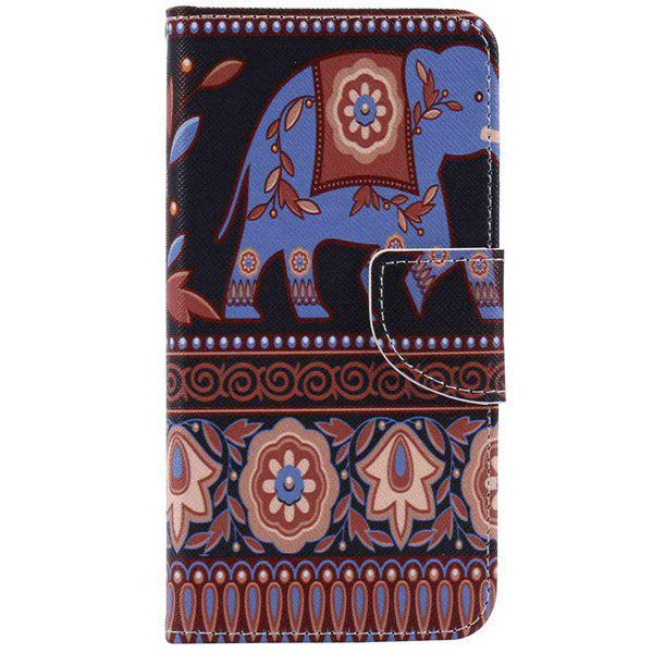 Ethnic Floral Elephant Pattern Wallet Phone Case For iPhone 7Home<br><br><br>Color: COLORMIX
