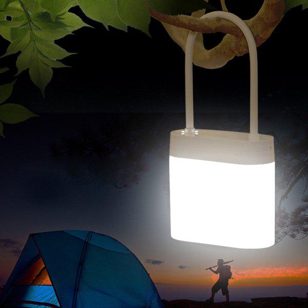 Creative multifonction rechargeable Cadenas Forme LED Night Light - Blanc